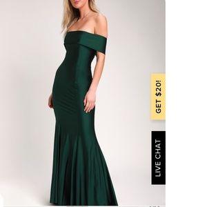 Lulus So Enchanted Emerald Green Maxi Dress